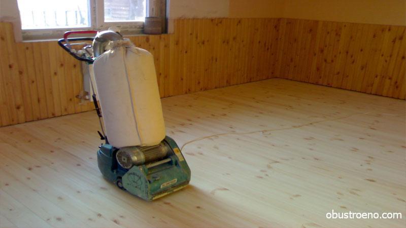 De betonnen vloer uitlijnen met linoleum vloernivellering voor
