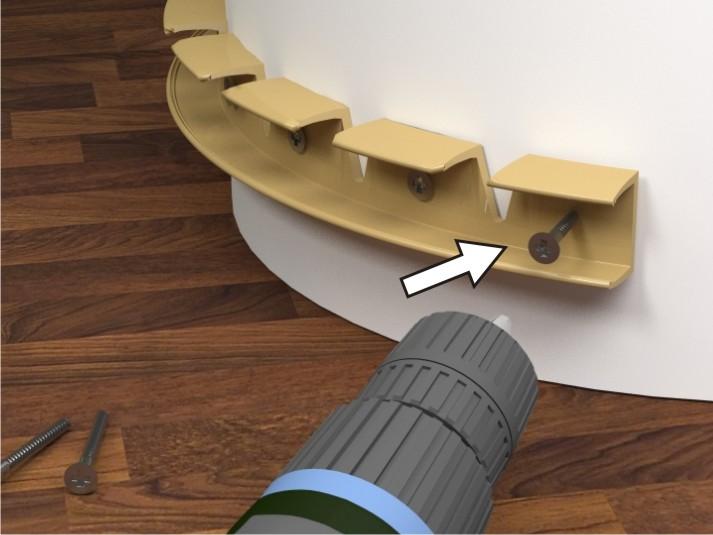Как согнуть пластиковый плинтус полукругом. Гибкий плинтус для пола с фото: полиуретановый и пластиковый.