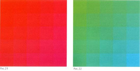 Warme en koude kleuren cool verlopen with warme en koude kleuren